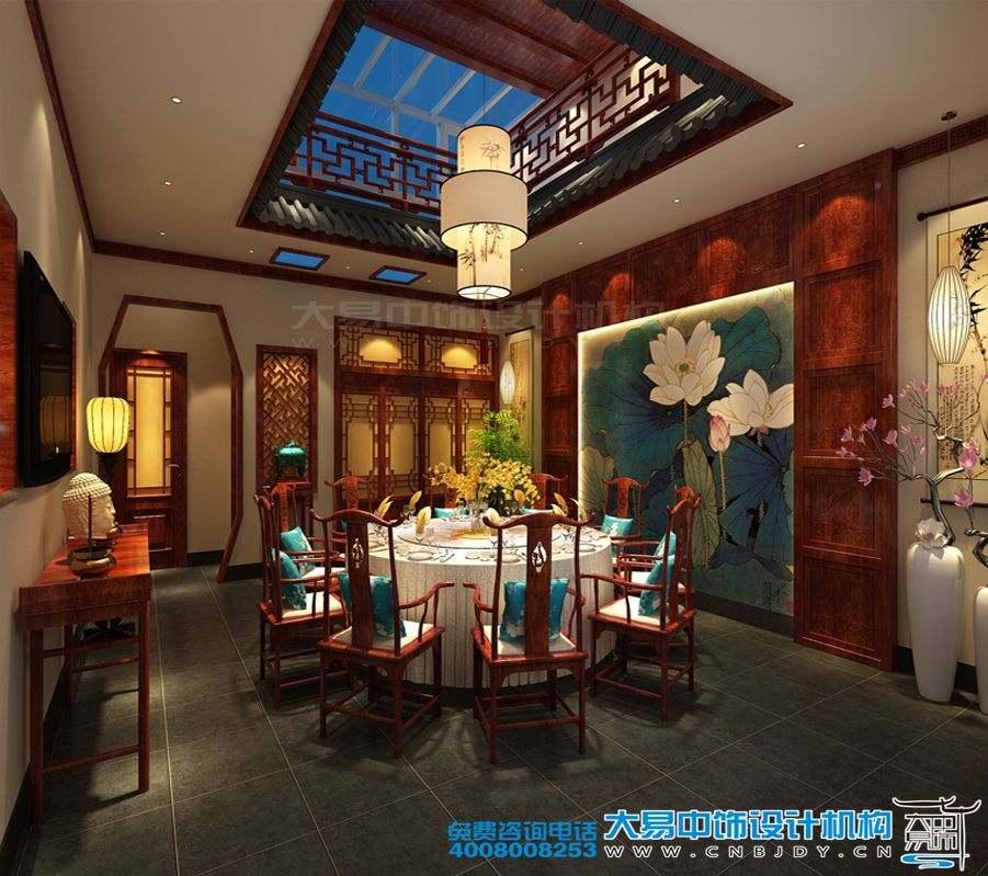 雍和宫中式四合院会馆设计效果图