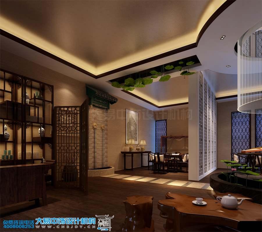 北京现代中式风格餐饮会所中式装修效果图