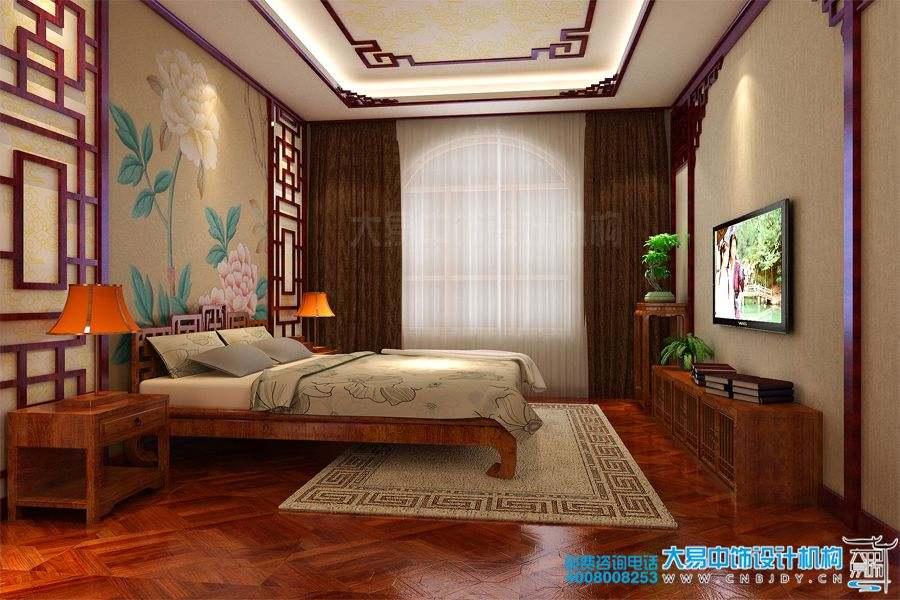 山东青岛420平米新中式风格别墅中式装修效果图