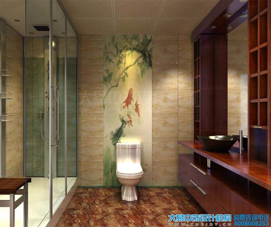 山东潍坊220平米简约中式住宅中式装修效果图