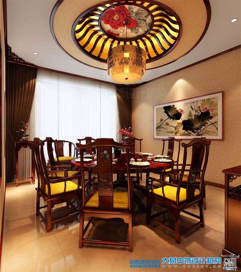 北京私人中式餐饮空间中式装修效果图