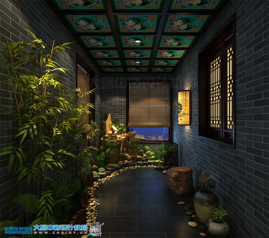 西宁简约中式风格室内装饰设计住宅225平米