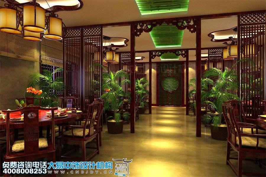 餐厅中式设计装修 大雅厅堂美味绕梁