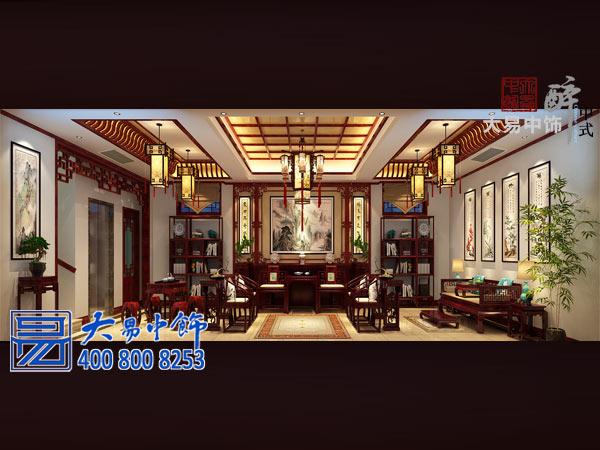 山东曲阜中式四合院中式装修设计 书香门第尽显传统底蕴