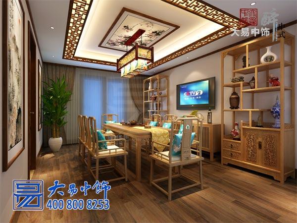 北京国奥村新中式设计家庭中式装修艺术氛围