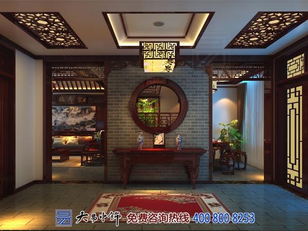 中式室内中式装修设计玄关中式装修效果图