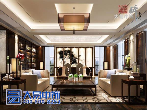 上海现代中式新中式会所中式装修效果图
