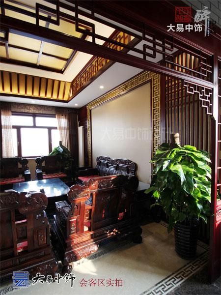 北京顺义工业园区药业集团中式办公空间中式装修设计元素