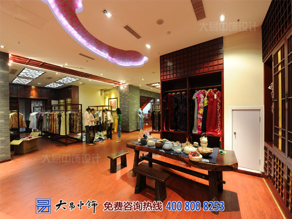 高端中式装修竣工现场 VIP服装店中式设计案例