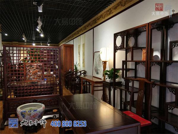 北京中式风格红木中式家具展厅中式装修设计高贵大气