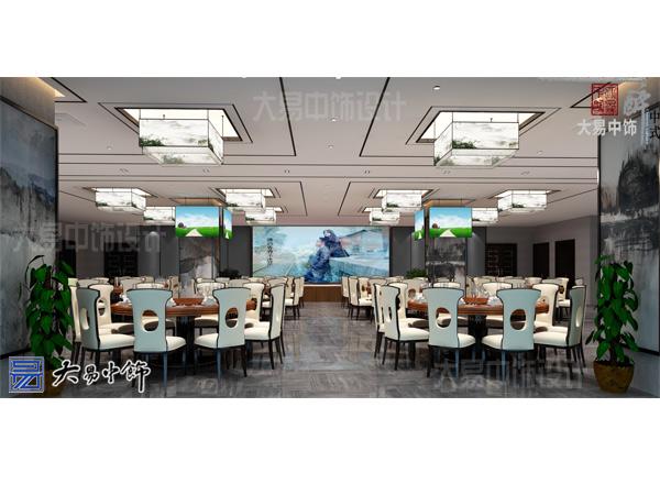 餐厅新中式设计清新舒雅的中式装修效果