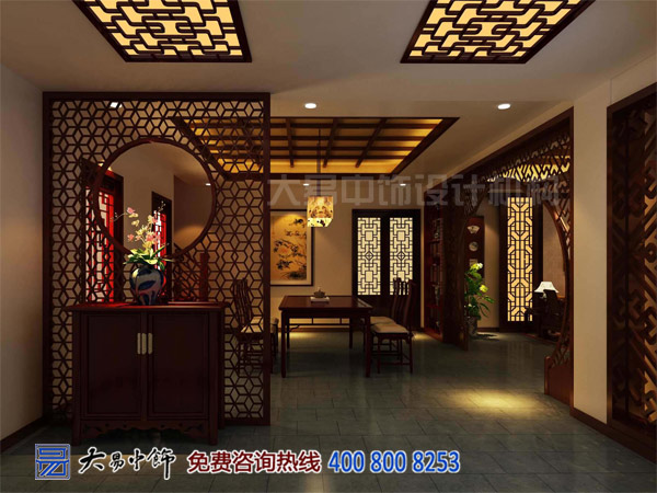 玄关中式设计室内中式装修效果图-玄关设计中式装修图片