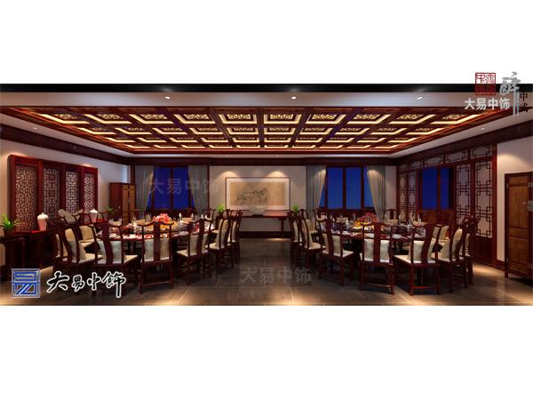 河北承德中式风格装修餐饮会馆设计更为私密休闲