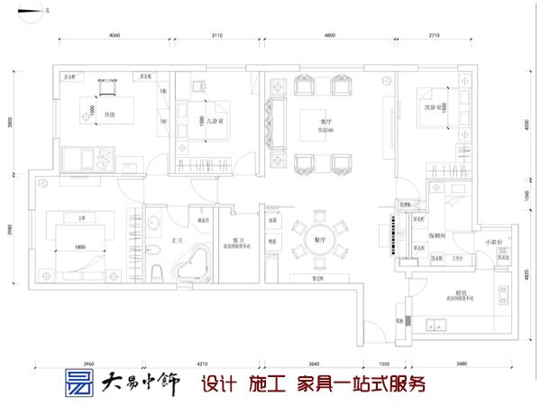 儒雅安逸的创意中式风情三居中式装修设计