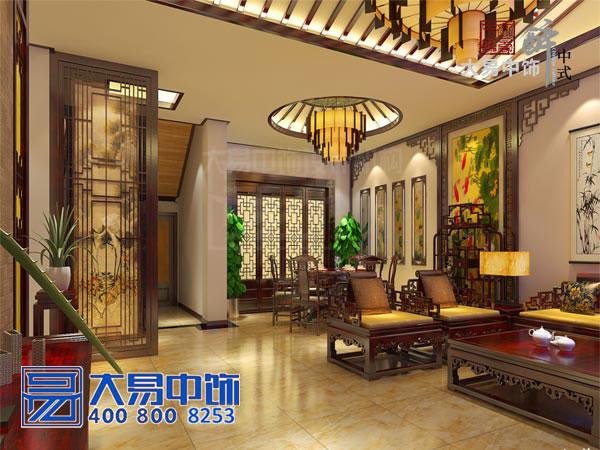 中式装修公司打造浅金色贵气风华经典大气宅